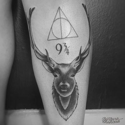 Always! Tattoo da Camila, muito obrigada pela confiança! #tattoo #tattoodo #ink #inked #inkedgirl #neotraditionaltattoo #neotraditional #neotraditionaltattoos #deer #deertattoo #always #HarryPotterTattoos #harrypotter #harrypottertattoo #deathlyhallows #patronus #patronustattoo
