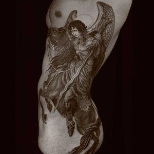 #blackwork #blackandgrey #rib #angel #rg #rg74