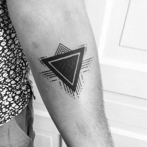 #blackwork #geometric #triangle #linework #dotwork #JoshBarnes
