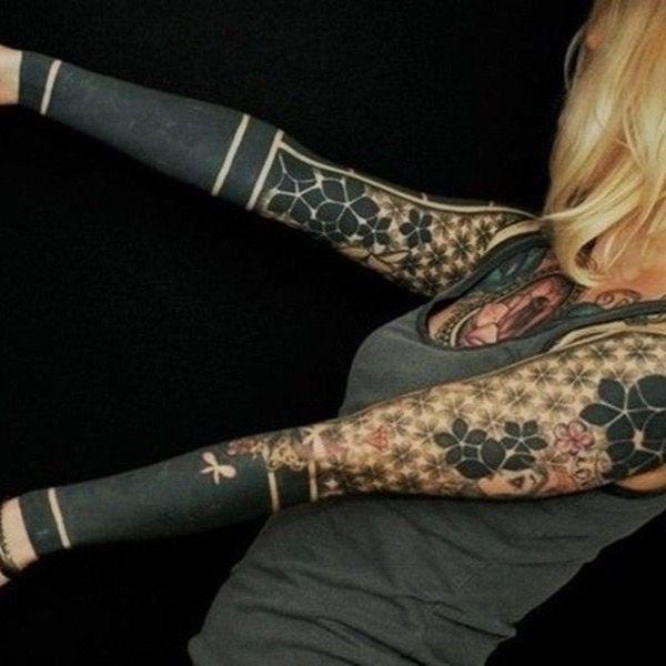 #sleeves #blackwork #geometric #dotwork