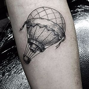 #Dotwork #airballoon by #DanBones