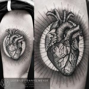 #heart #anatomical #blackwork #blackandgrey #fineline #DanielMeyer