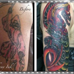 #dragon #coverup #japanese #traditionaljapanese