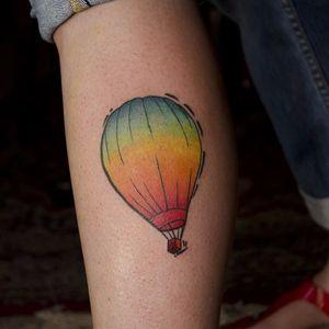 #Colorful #rainbow #airballoon tattoo