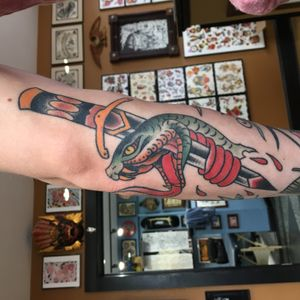 #snake #traditional #TraditionalTattoo #color