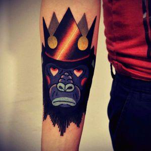 Donkey kong tattoo #ape #donkey #king