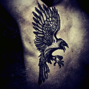 The Old English word for a raven was hræfn.  In Old Norse it was hrafn.  The word was frequently used in combinations as a kenning for bloodshed and battle. #Bird #Raven #Viking #Bloodshed #Battle #Pagan