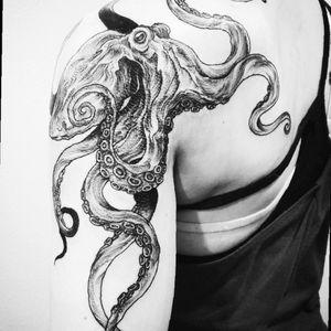 Another octopus 🐙 slash kraken tattoo! #octopus #octopustattoo #kraken