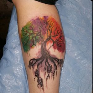 In love with my tree of life water color piece. Just got it on Saturday!