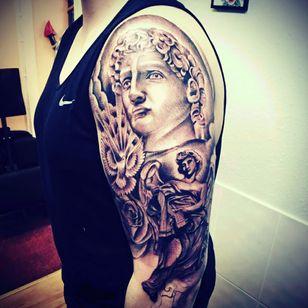 #greek #blackandgrey #tattoo