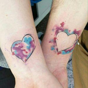 #couple #tattooedcouple Our first tattoo