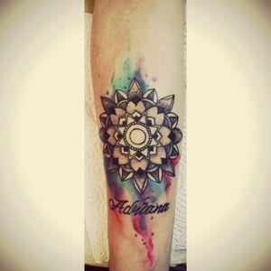 #Mandala #MandalaTattoo #colormandala #WaterColor #watercolourtattoo #watercolour #lettering #lettertattoo #Letter #customtattoo #customdesign #customlettering #tattoodesign