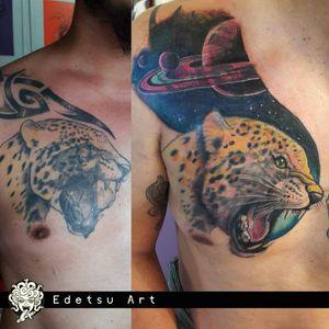 Coverup in process #draw #art #coverup #planets #jaguar #jaguartattoo