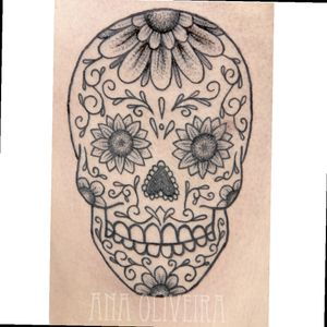 #skull #mexicanskull #pontilhismo #pontillism #dotwork