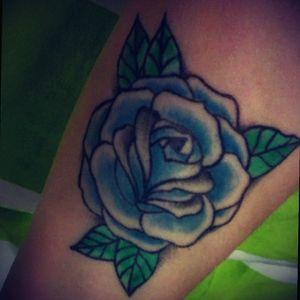 #rose #blue #meaningful #firsttattoo