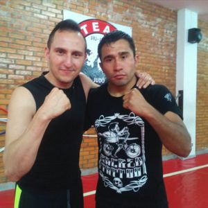 With my friend Alex from UFC