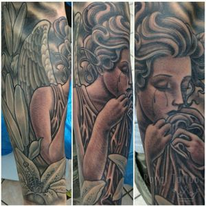 Angel done by Lobinho For info or bookings pls contact us at art@royaltattoo.com or call us at + 45 49202770 #royal #royaltattoo #royaltattoodk #royalink #royaltattoodenmark #helsingørtattoo #ElsinoreInk #tatoveringidanmark #tatoveringihelsingør #toptattoo #toptattooartist