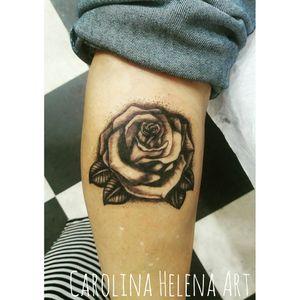 #rosetattoo #rose #flowertattoo #blackandgrey #dotworktattoo #aquilatattoo #carolinahelenaart