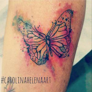 #butterfly #butterflytattoo #watercolortattoo #colorful #aquilatattoo #carolinahelenaart
