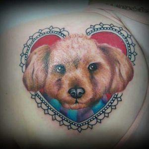 #SorryMomInk #Dog #PetTattoo #CollorTattoo #NewTraditional #GirlWithTattoo #inkedgirls #inkedgirl #dogportrait #dogtattoo