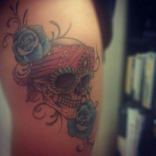#skull #skulltattoo #color