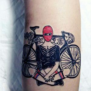Bicycle Addict #stigmatophile #IronHorseTattooStudio #ChiangMai #Thailand #Bicycle #eternalink