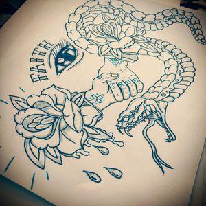 #snake #neotraditional #drawing #sketch #traditional #handshake