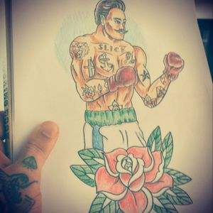 #traditional #boxer #drawing #sketch #pencil #sketchbook #tattoo #flash #neotraditional #oldschool