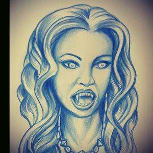 Van Helsing Bride Sketch by Robby Galvan