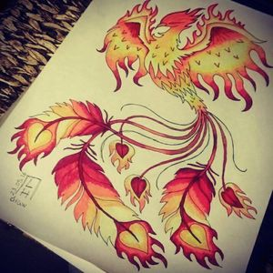 Tattoo idea - Phoenix Sketch by me ( available ) #draw #drawing #sketch #sketchbook #tattoo #tattooidea #Phoenix #phoenixtattoo #fire #feather