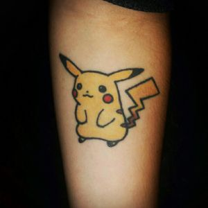 Little Pikatchu made by a good friend of mine. #Pikachu #pokemon #color