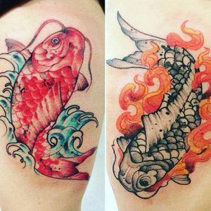 My koi fish tattoos #koifish #tattoo