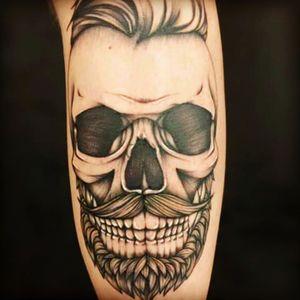 #tatooartist #skull #rockandroll #funnytattoos by Mika Graff