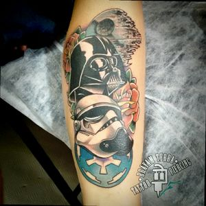 #starwars #starwarstattoo #darthvader #stormtrooper