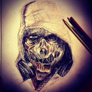 #detail #realstic #blackandgrey #detail #tatt #tatt #tattoo #tattooartist #ink #inked #inkedlove #nopain #nopain #commentifyouwant #kent #uk #follow #swag #scarecrow