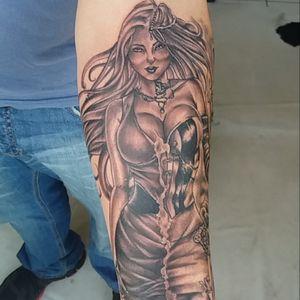 #blackandgreytattoo #blackandgray #tattoo #tattoo #tattoodoo #comics #brasil #starbrite