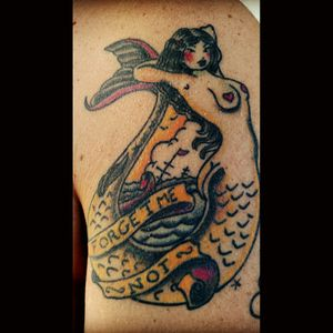 Sereia! #mermaid #sereia #forgetmenot #oldschool #traditional #traditionaltattoo
