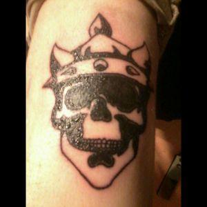 #skull #crown #chrisbergmanntattoartist