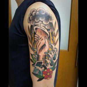 #tattoo #tatuagem #tattoos #customtattoos #loveclassictattoos  #traditionaltattoos  #oldschool #boldline