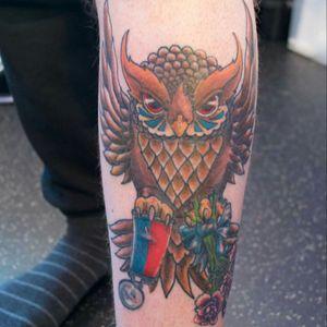 #owl #memorialtattoo #bluerosestudio