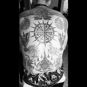 #sriptures #celestialbeings #buddha #buddhism #religioustattoo #thailand #tattofromtemple #handpoke #singleneedle