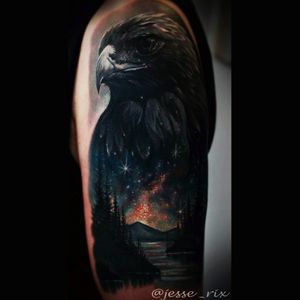 Love this. I want a detailed birs with a galaxy incorporated like this one. #crow #bird #realistic #detail