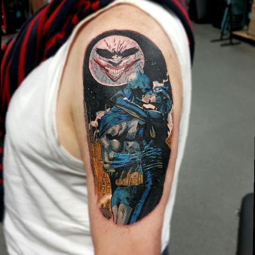 #dc #dccomics #batman #Catwoman #comicbook #comicbooktattoo #comic #colour #colourtattoo #newschool #newschooltattoo #chrismorristattoos