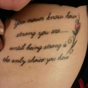 #quote #rose #meaningful #strength #ribs