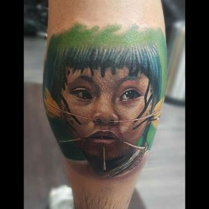 By: @MarioToloza   Instagram: @MarioToloza  Con tintas @radiantcolorsink  #mariotoloza #colombiatattoo #indiantattoo #portrait #tattoobogota #color #radiantcolorscrew #radiantcolorsink #the_best_tattoo_magazine #tattoo_art_worldwide