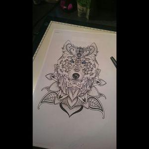 Dessin Loup Mandala