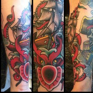 #sailor #ship #shiptattoo #octopus #pirate