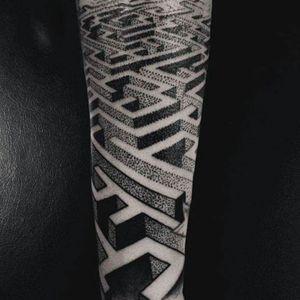 #blackwork #dotworktattoo #tattoodoo #TattoodoApp #labyrinth #armtattoos