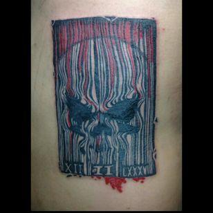 Skull barcode #skulltattoo #barcode #Dateofbirthday #Philippines