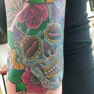 #tattoos #sugarskull #dayofthedead #freshink #oldpic